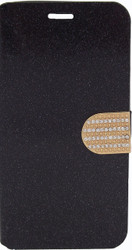 Alcatel Fierce XL Glitter Bling Wallet Black