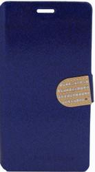 LG G Flex 2 Glitter Bling Wallet Blue