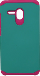 Alcatel Fierce XL MM Slim Dura Case Green & Pink