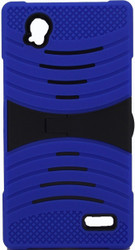 ZTE Warp Elite Armor Case With Kickstand Blue