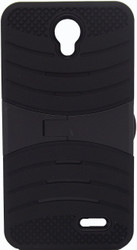 ZTE Avid Trio/Sonata 3/Prestige/ Avid Plus Armor Case With Kickstand Black