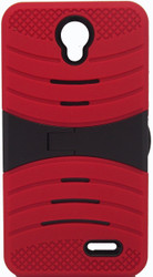 ZTE Avid Trio/Sonata 3/Prestige/Avid Plus Armor Case With Kickstand Red