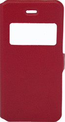 IPhone 5/5S/SE Caller ID Flip Wallet Red