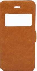 IPhone 5/5S/SE Caller ID Flip Wallet Orange
