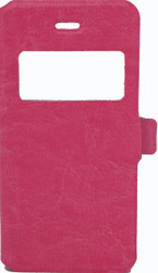 IPhone 5/5S/SE Caller ID Flip Wallet Pink