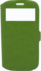 Samsung Galaxy S3 Caller ID Flip Wallet Green