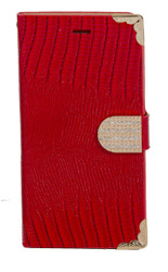 Samsung Mega 6.3 Deluxe Wallet Red
