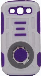 Samsung Galaxy S3 Ring Hybrid White & Purple