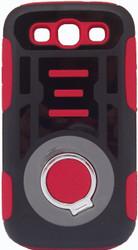 Samsung Galaxy S3 Ring Hybrid Black & Red