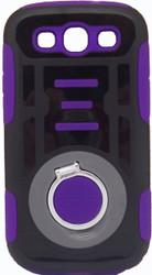 Samsung Galaxy S3 Ring Hybrid Black & Purple