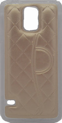 Samsung Galaxy S5 Quilted Leather Bumper Gold