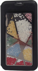 Samsung Galaxy S5 Glitter Floating Wallet Black
