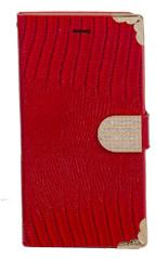 Samsung Mega 5.8 Deluxe Wallet Red