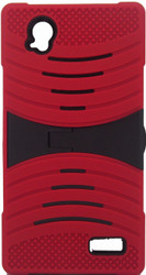 ZTE Warp Elite Armor Case With Kickstand Red