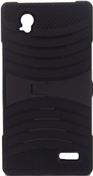 ZTE Warp Elite Armor Case With Kickstand Black