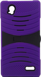 ZTE Warp Elite Armor Case With Kickstand Purple