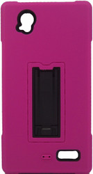 ZTE Warp Elite Armor Horizontal With Kickstand Pink