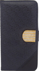 Alcatel Conquest Design Wallet With Bling Navy