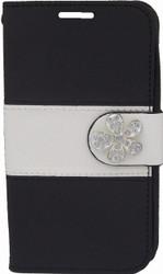 LG Optimus F60 MM Flower Wallet Black