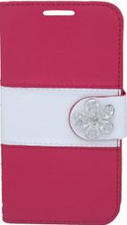 LG Optimus F60 MM Flower Wallet Red
