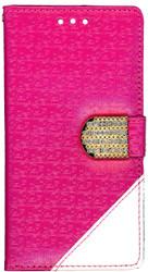 LG G FLex 2 Design Wallet With Bling Pink