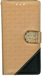 LG G FLex 2 Design Wallet With Bling Light Brown