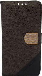 Alcatel Idol 3 5.5  Design Wallet With Bling Gold