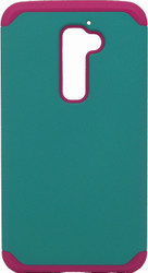 LG G2  MM Slim Dura Case Green & Pink