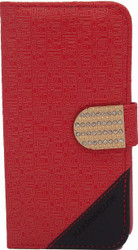 Kyocera Hydro Wave Design Wallet with Bling Red