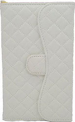 Samsung Mega 6.3 Quilted Wallet With Chain White