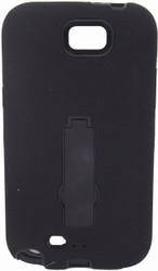SOLD OUT Samsung Note 2 Armor Horizontal With Kickstand Black