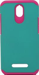 ZTE Obsidian MM Slim Dura Case Green & Pink