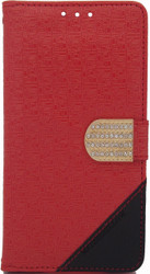 ZTE Axon Design Wallet with Bling Red