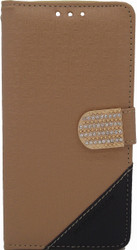 ZTE Axon Design Wallet with Bling light Brown