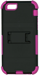 Iphone 6/6S MM Triple Layer Armor Case With Kickstand Pink