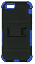 Iphone 6/6S MM Triple Layer Armor Case With Kickstand Blue