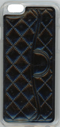 Iphone 6/6S Quilted Leather Bumper Black