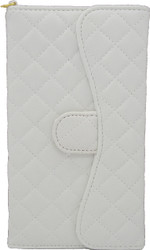 Blu Studio 5.5 Quilted Wallet With Chain White