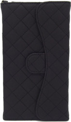 Blu Studio 5.5 Quilted Wallet With Chain Black