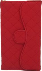 Blu 5.0 II Quilted Wallet With Chain Red