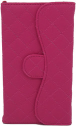 Blu 5.0 II Quilted Wallet With Chain Pink