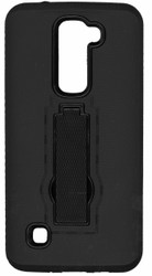 LG K7/Tribute 5 / Escape 3 Armor Horizontal With Kickstand Black