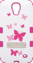 SOLD OUT Samsung Mega2 MYBAT Butterfly Dancing/Hot Pink TUFF Hybrid Protector Cover (with Stand)