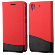 HTC Desire 626/626S ASMYNA Red/Black MyJacket wallet (with card slot)(GE004) (with Package)
