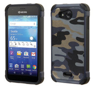 Kyocera Hydro Wave ASMYNA Camouflage Navy Blue Backing/Black Astronoot Phone Protector Cover