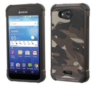 Kyocera Hydro Wave ASMYNA Camouflage Gray Backing/Black Astronoot Phone Protector Cover