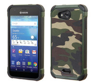 Kyocera Hydro Wave ASMYNA Camouflage Green Backing/Black Astronoot Phone Protector Cover