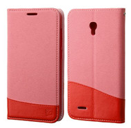 Alcatel Conquest ASMYNA Pink/Red MyJacket wallet (with card slot)(GE005) (with Package)