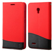Alcatel Conquest ASMYNA Red/Black MyJacket wallet (with card slot)(GE004) (with Package)