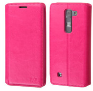 LG Volt 2 MYBAT Hot Pink MyJacket Wallet(with Tray)(563) (with Package)